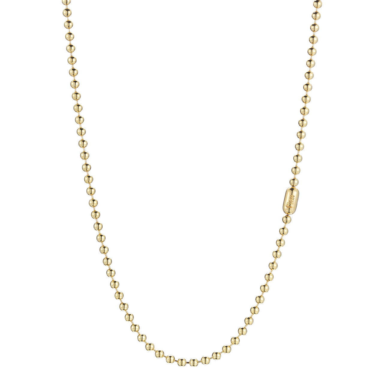 solid everyday 14k gold ball chain necklace by finn by candice pool neistat