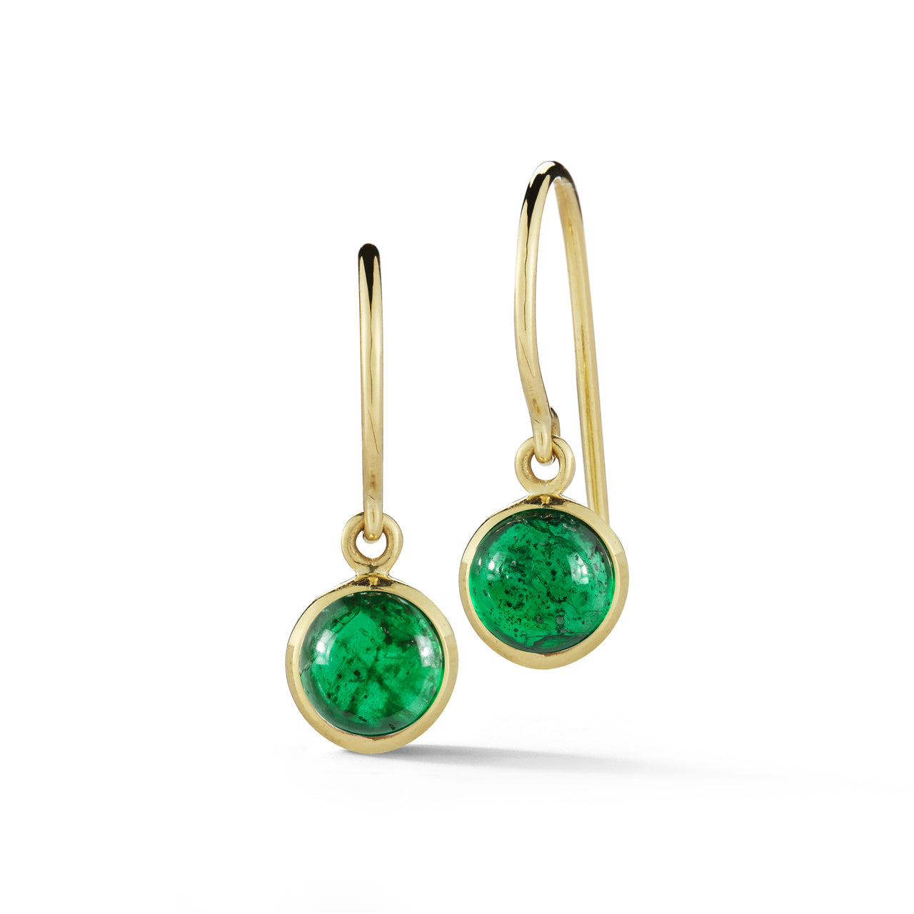 18k gold simple emerald workplace earrings by finn by candice pool neistat