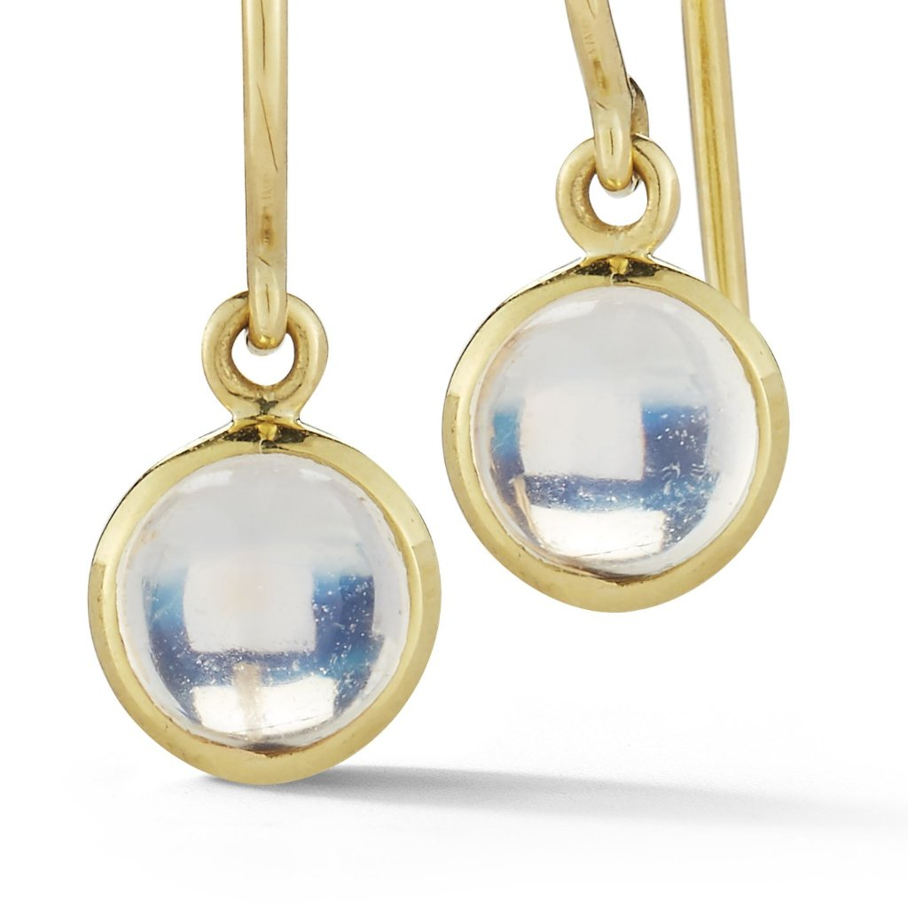 Moonstone Cabochon Earrings