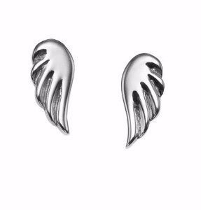 angel wing studs in 18k gold by finn by candice pool neistat