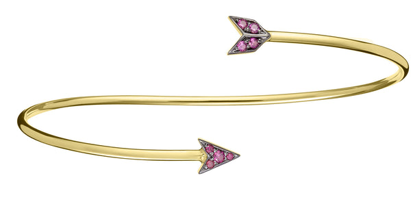 Ruby Arrow Bangle - Finn