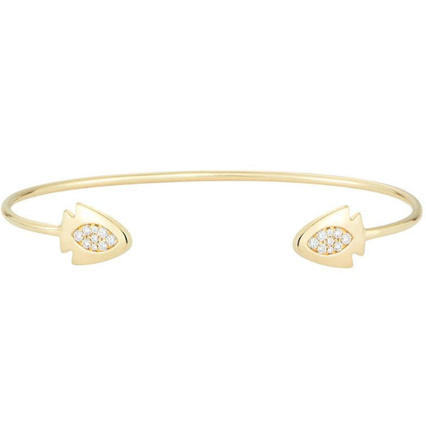 18k gold diamond arrowhead bangle bracelet - Finn by Candice Pool Neistat