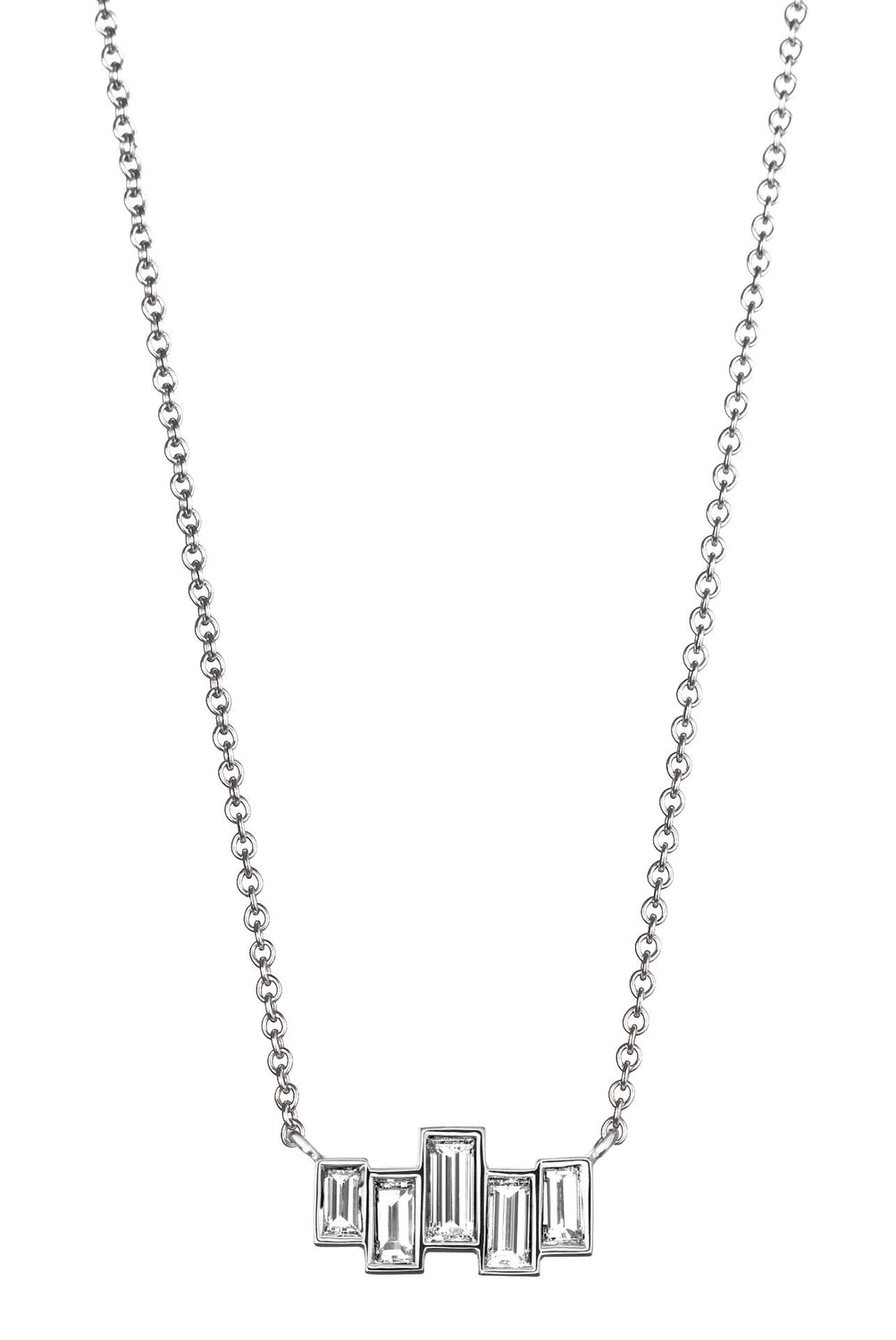 diamond necklaces baguette and white fashion pendant jewelry gold