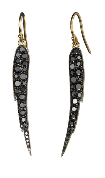 Black Diamond Angel Wing Earrings - Finn