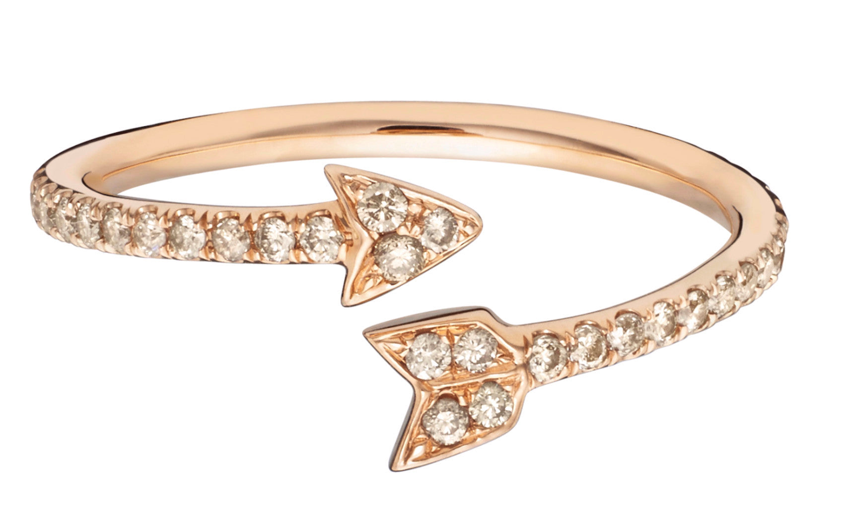Champagne Diamond Arrow Ring - Finn