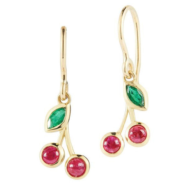 ruby cherry earrings in gold finn jewelry