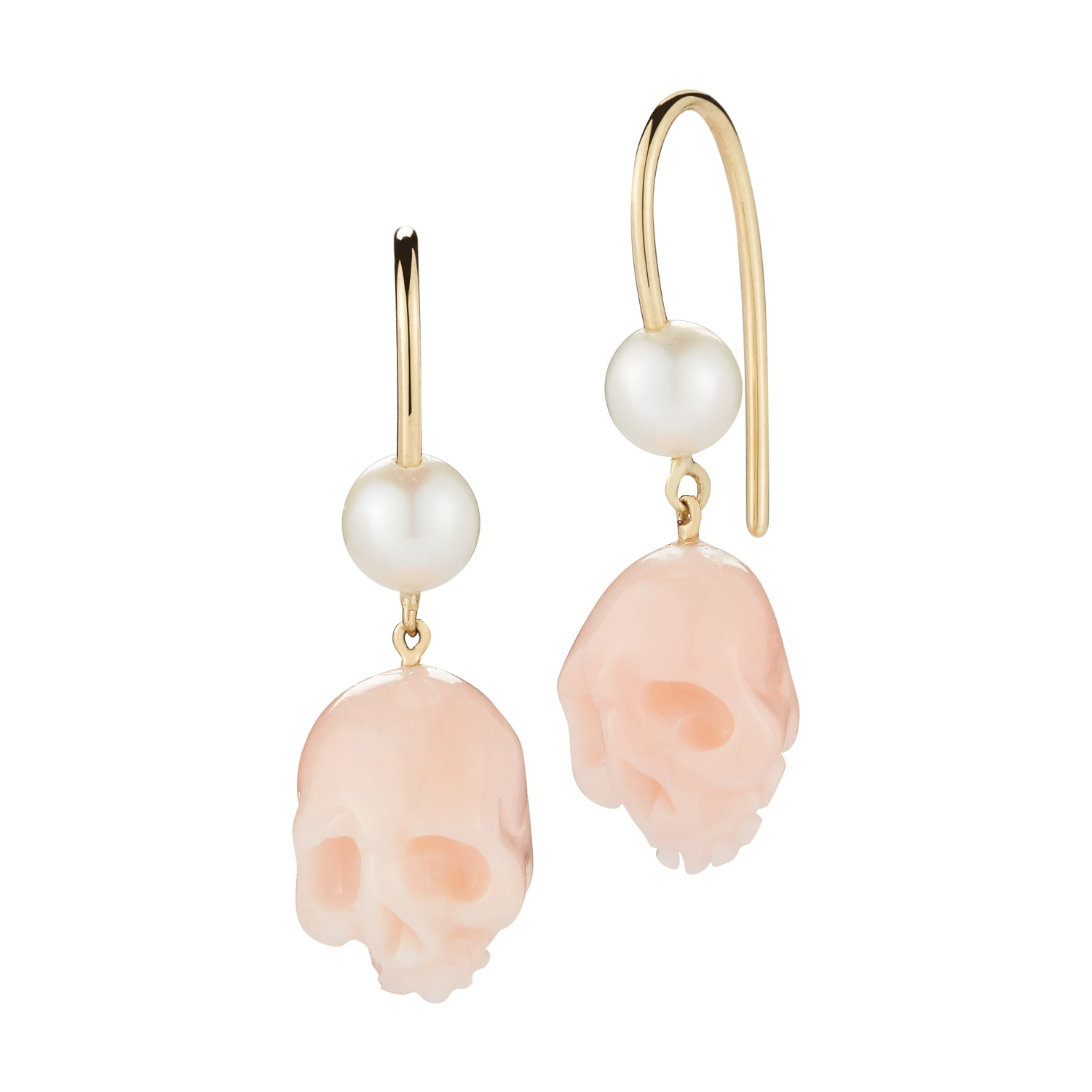 gold earrings itm in stud pink ebay freshwater pearl