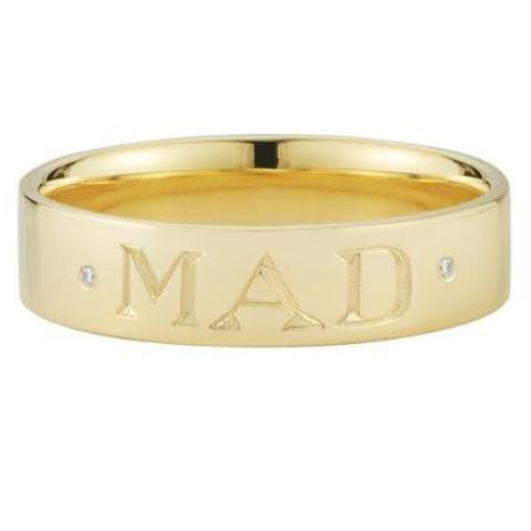 custom engraved gold band ring finn jewelry