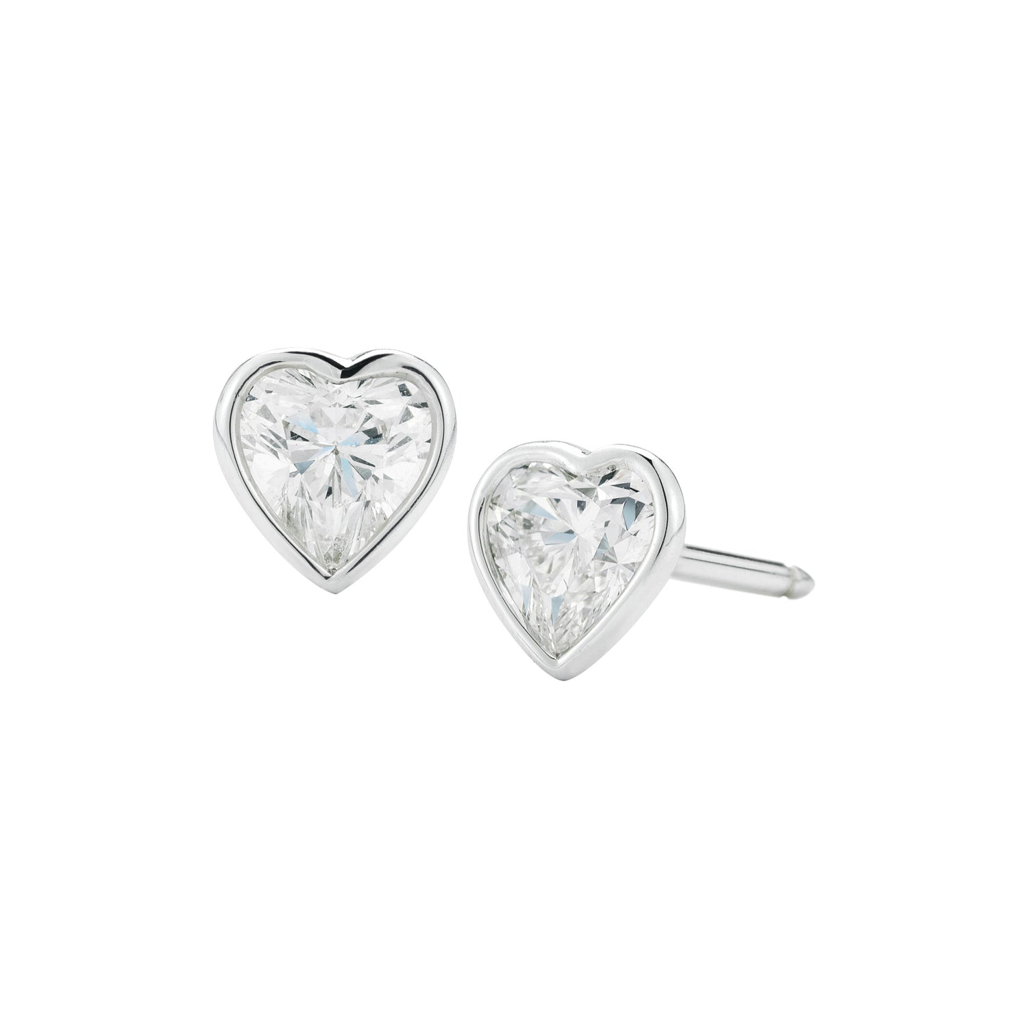 Diamond Heart Studs