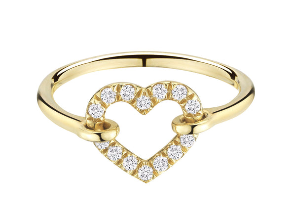 Diamond Open Heart Ring - Finn