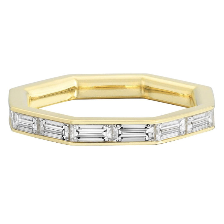 Octagon Diamond Eternity Band