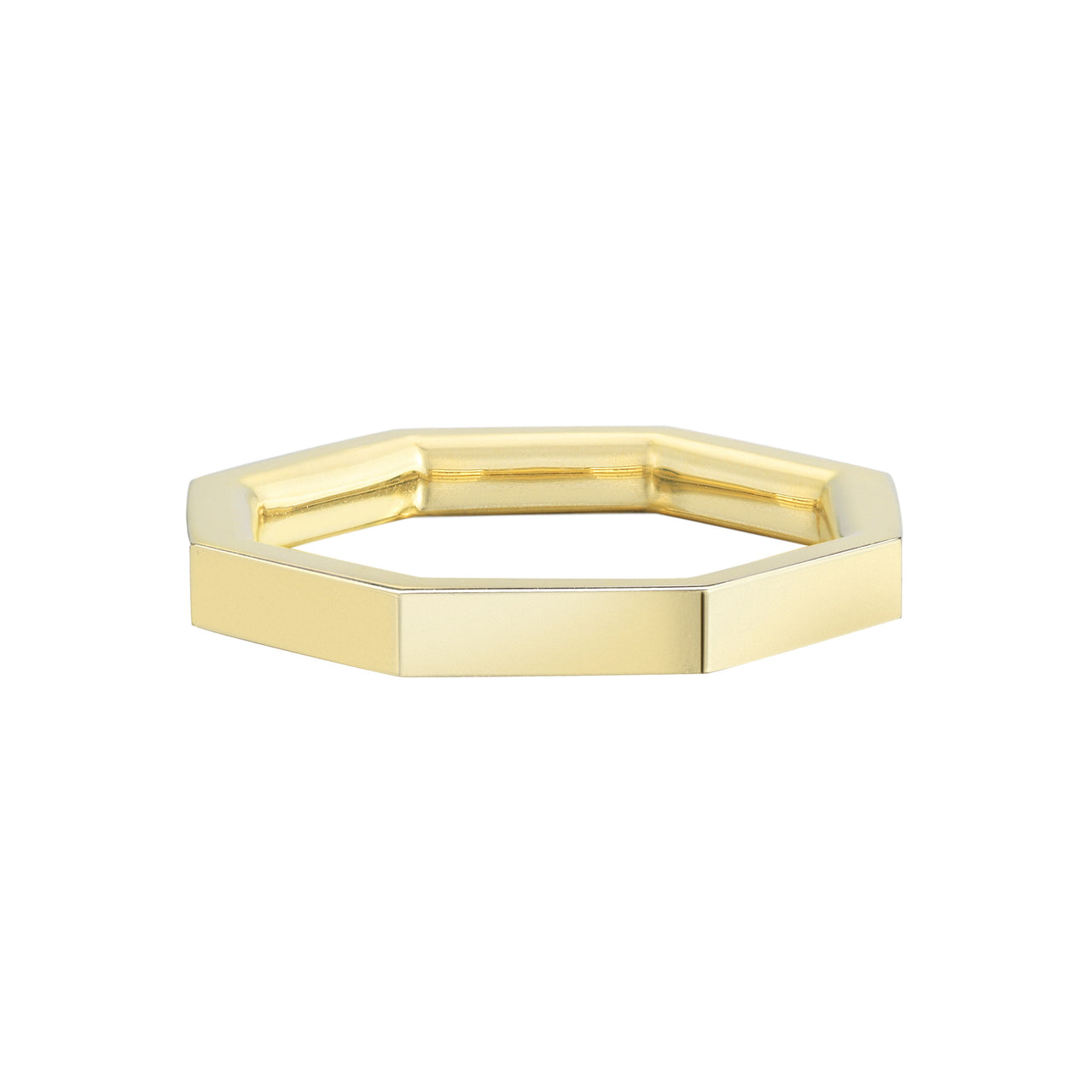 comfortable geometric minimalistic ring or wedding band in 18k gold by finn by candice pool neistat