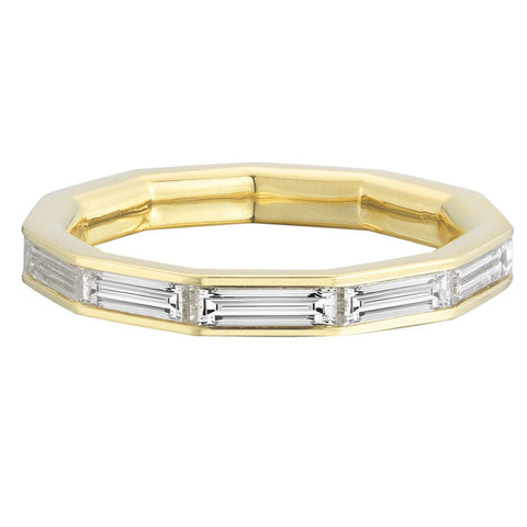 Hendecagon Diamond Eternity Ring - Finn