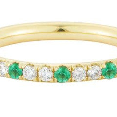 Emerald Speckled Eternity Band