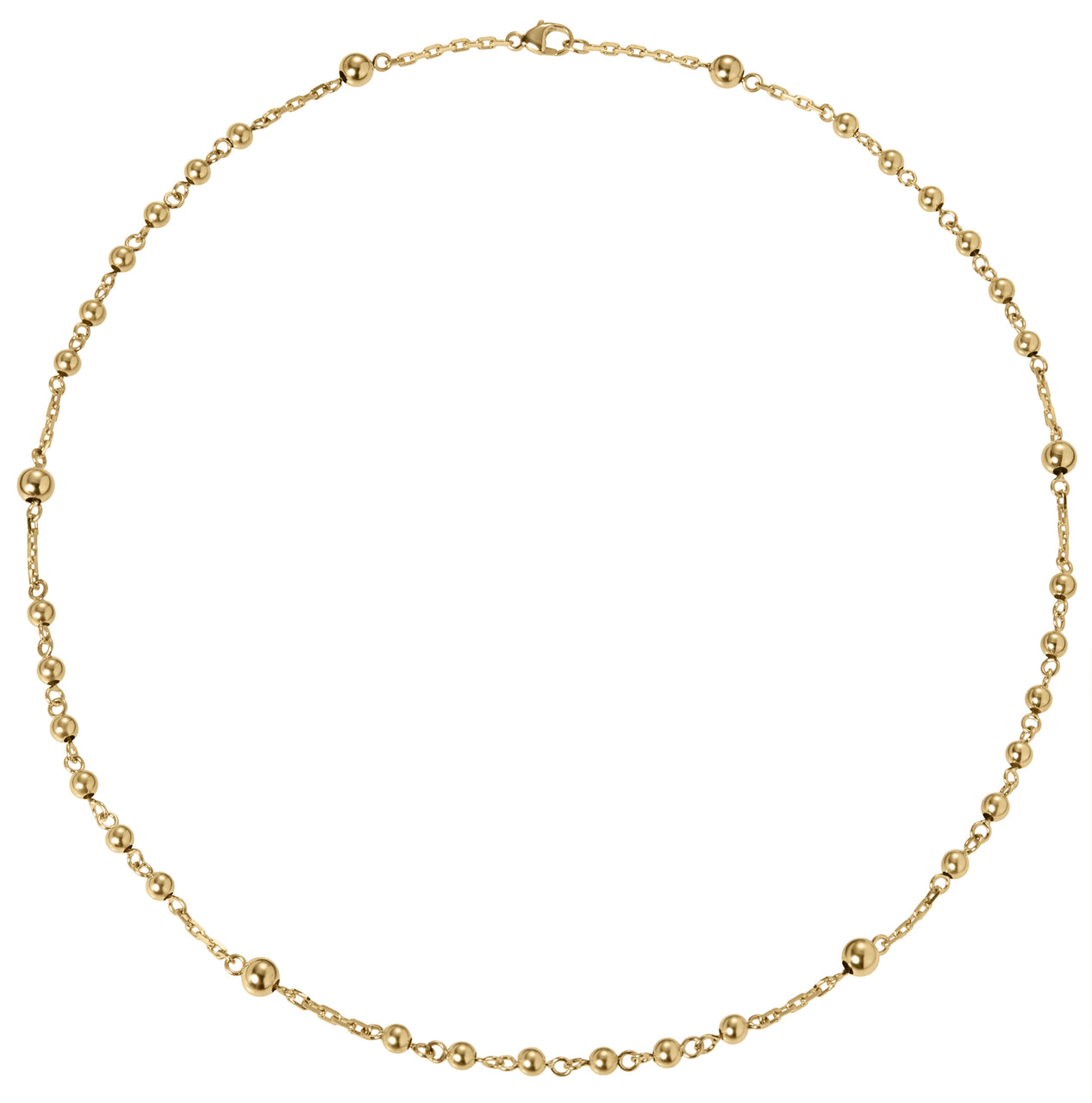 everyday modern rosary bead short chain necklace in 18k gold by finn by candice pool neistat