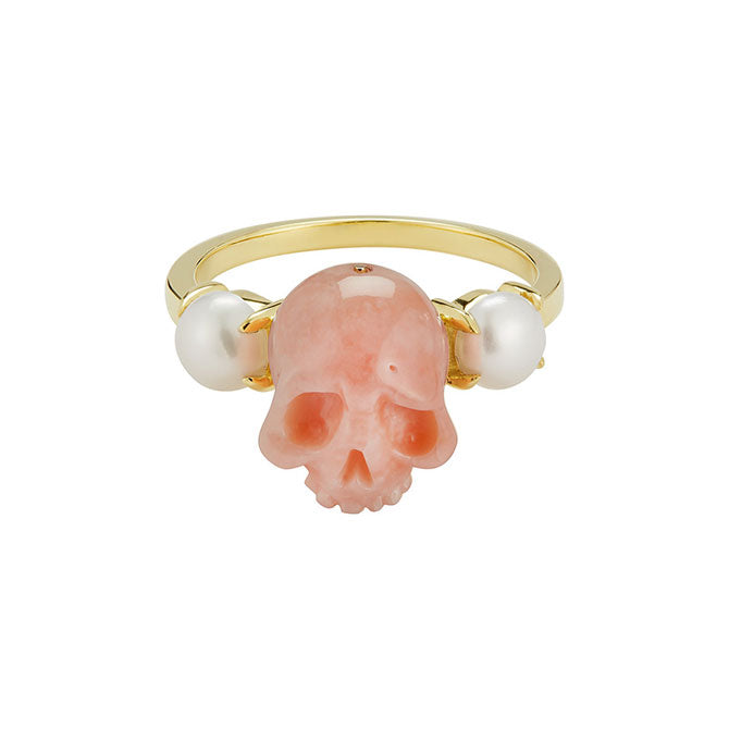 Skull and Pearl Ring