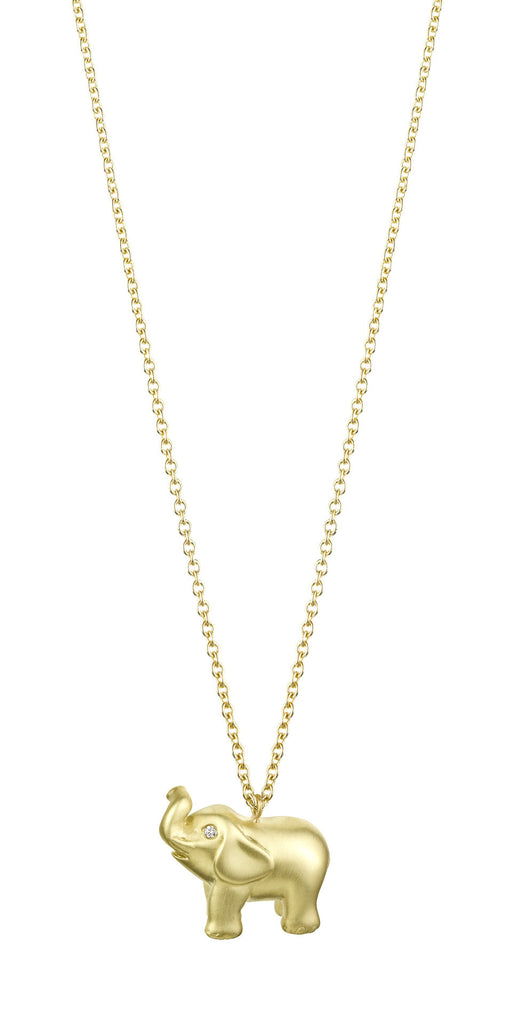 New Solid Gold Elephant Necklace – Finn UJ84