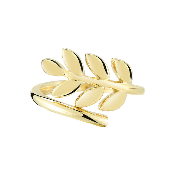 Gold Leaf Ring - Finn
