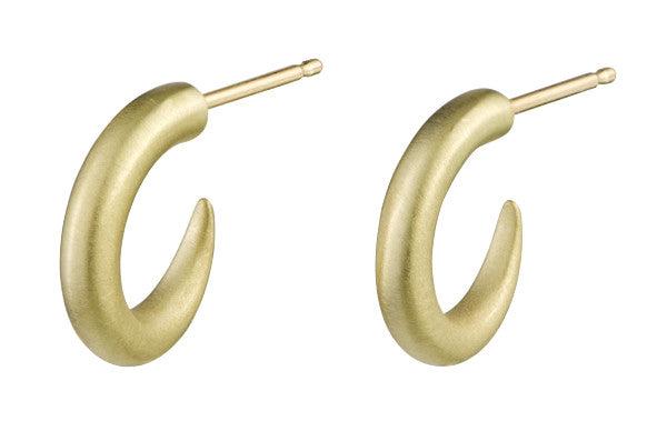 funky modern horn earrings in 18k solid gold by finn by candice pool neistat