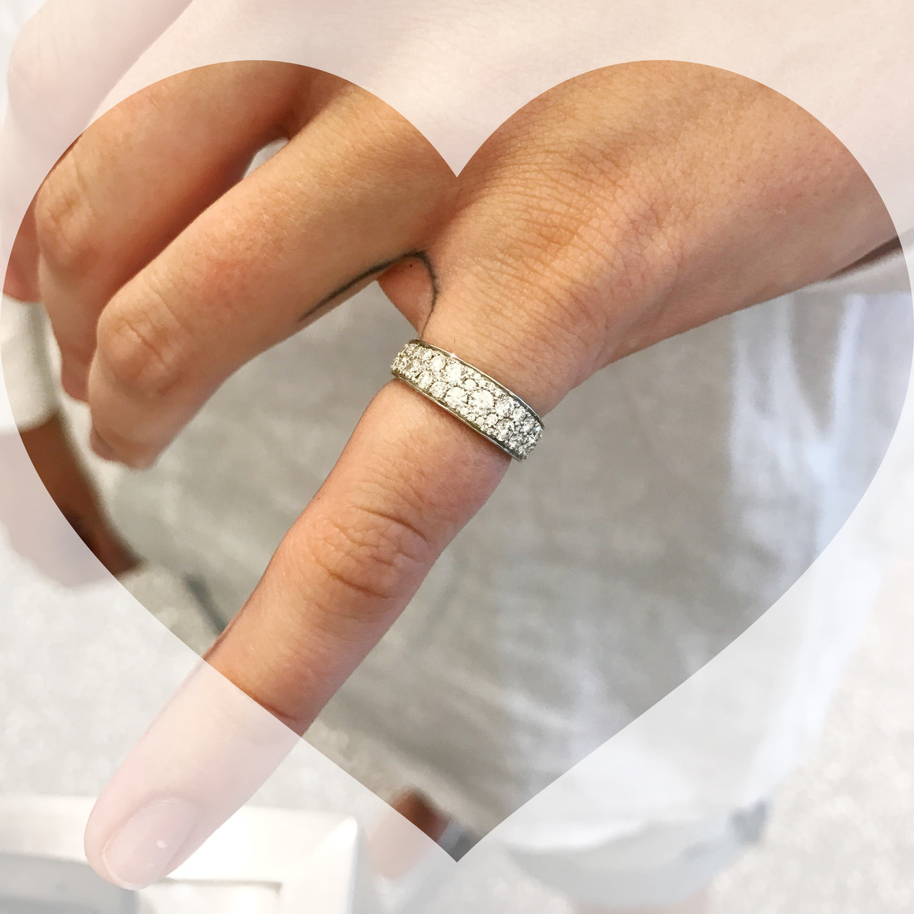 Pave Diamond Pinky Ring
