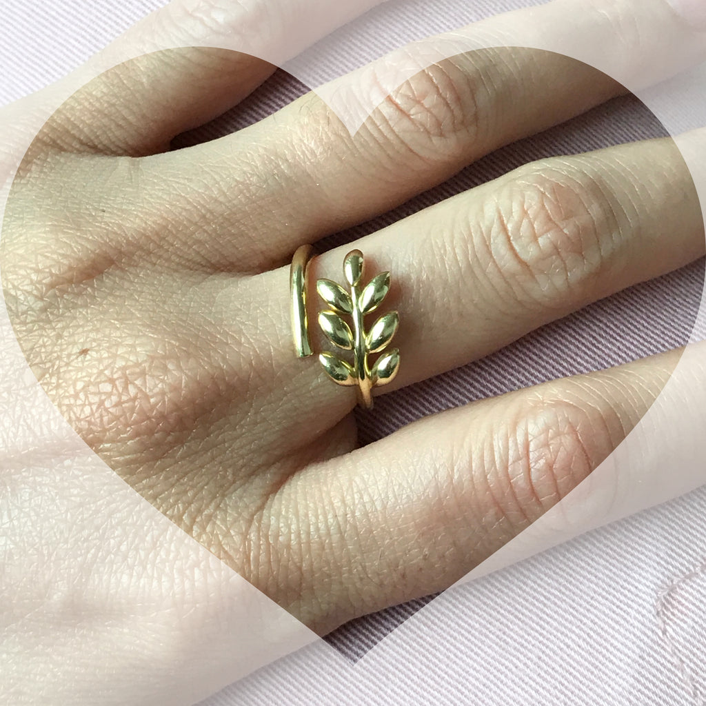 Gold Leaf Ring