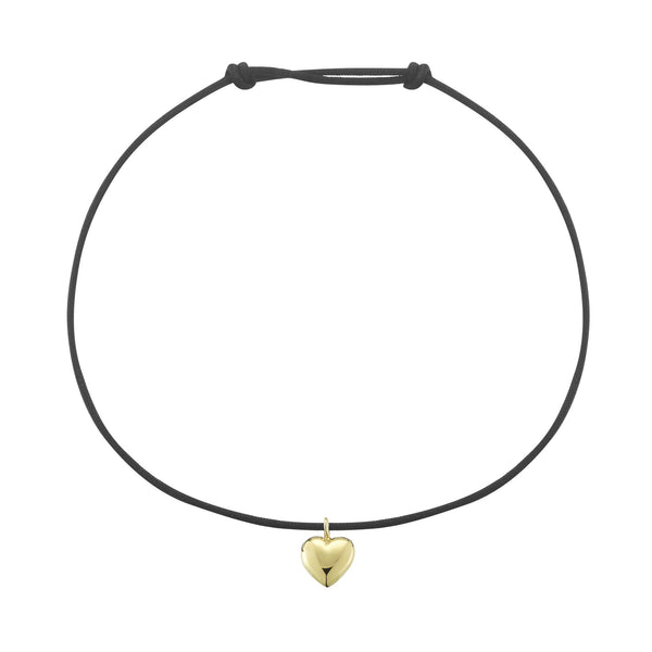Solid Gold Heart String Bracelet
