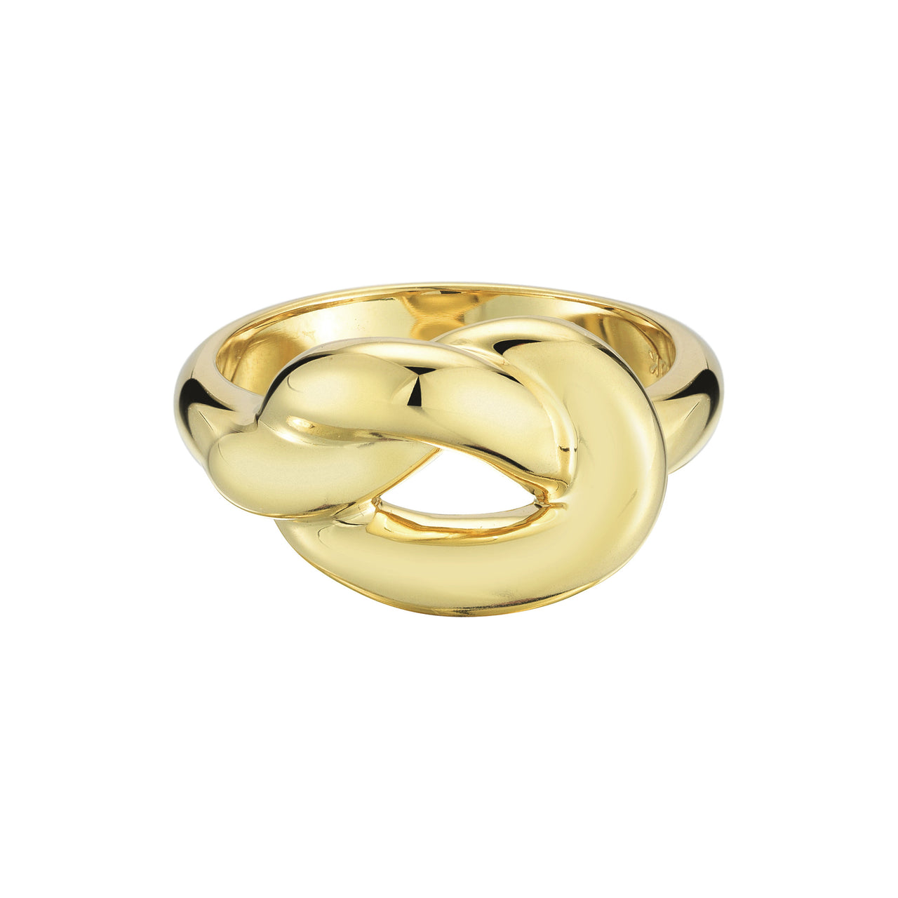 big statement love knot ring in 18k gold by finn by candice pool neistat