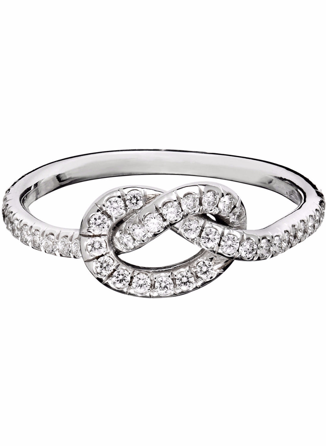 love silver rings engagement knot products diamond sterling silvercloseout ring size simulated