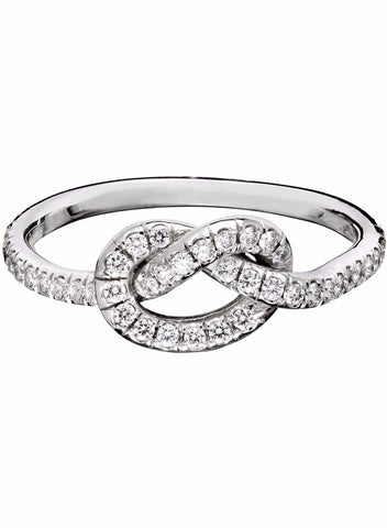Large Diamond Love Knot Ring - Finn