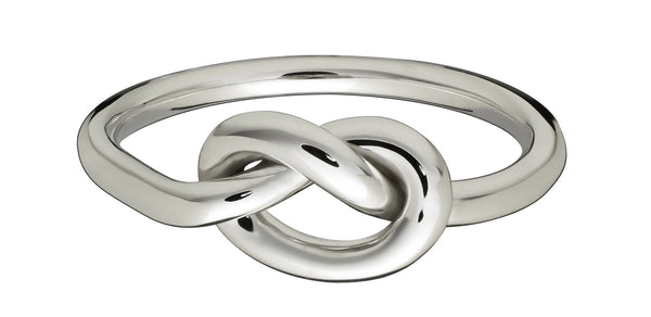 White Gold Love Knot Ring - Finn