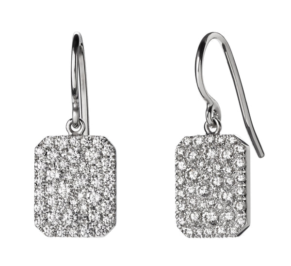 Small Pave Scapular Earrings