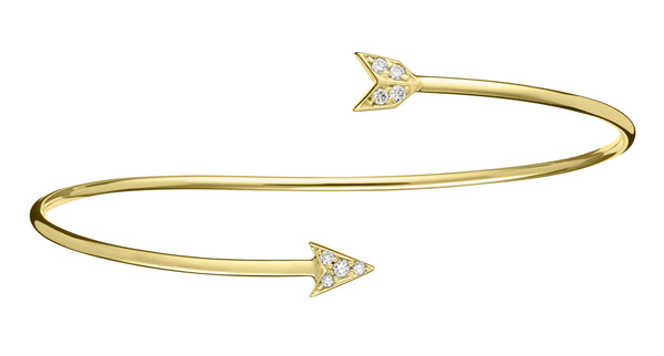 Diamond Arrow Bangle - Finn