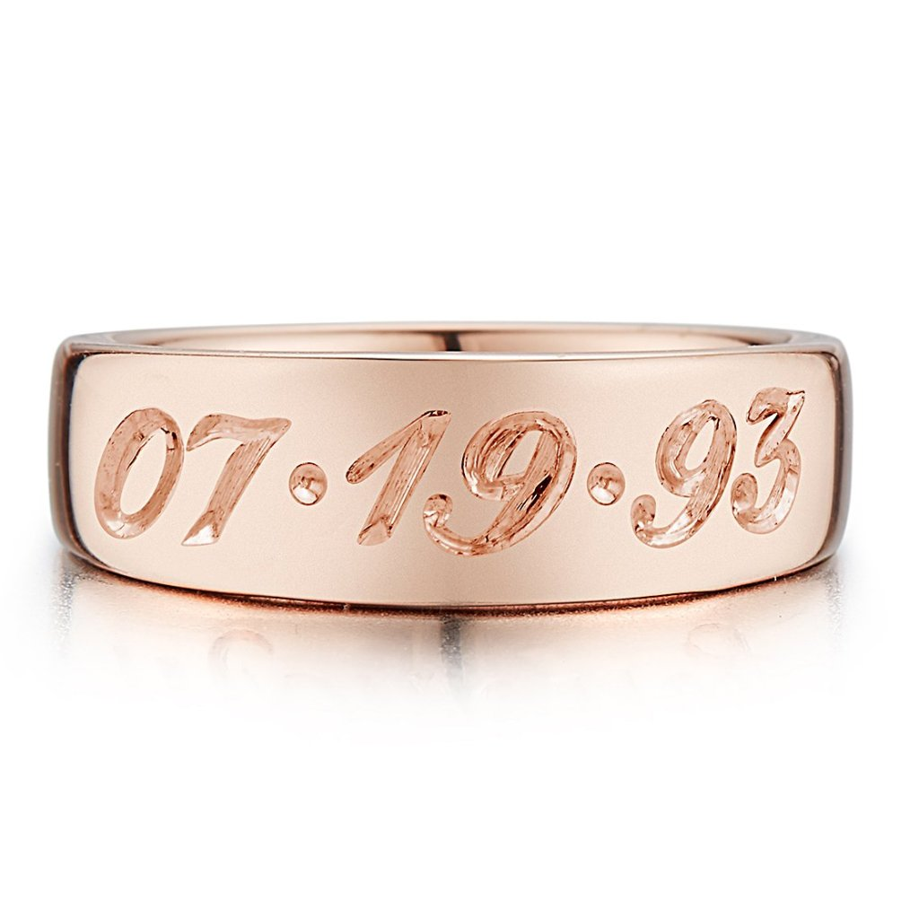 Custom Date Pinky Ring