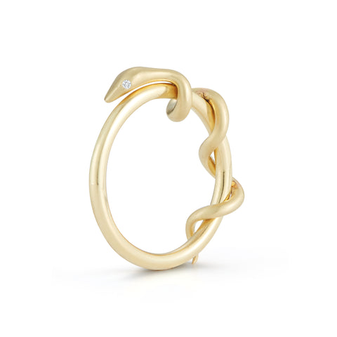 gold snake ring by Finn Jewelry NYC by Candice Pool Neistat