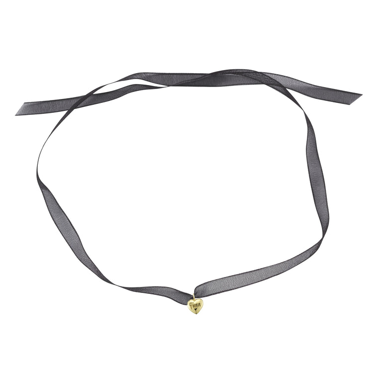 Solid Gold Heart Choker
