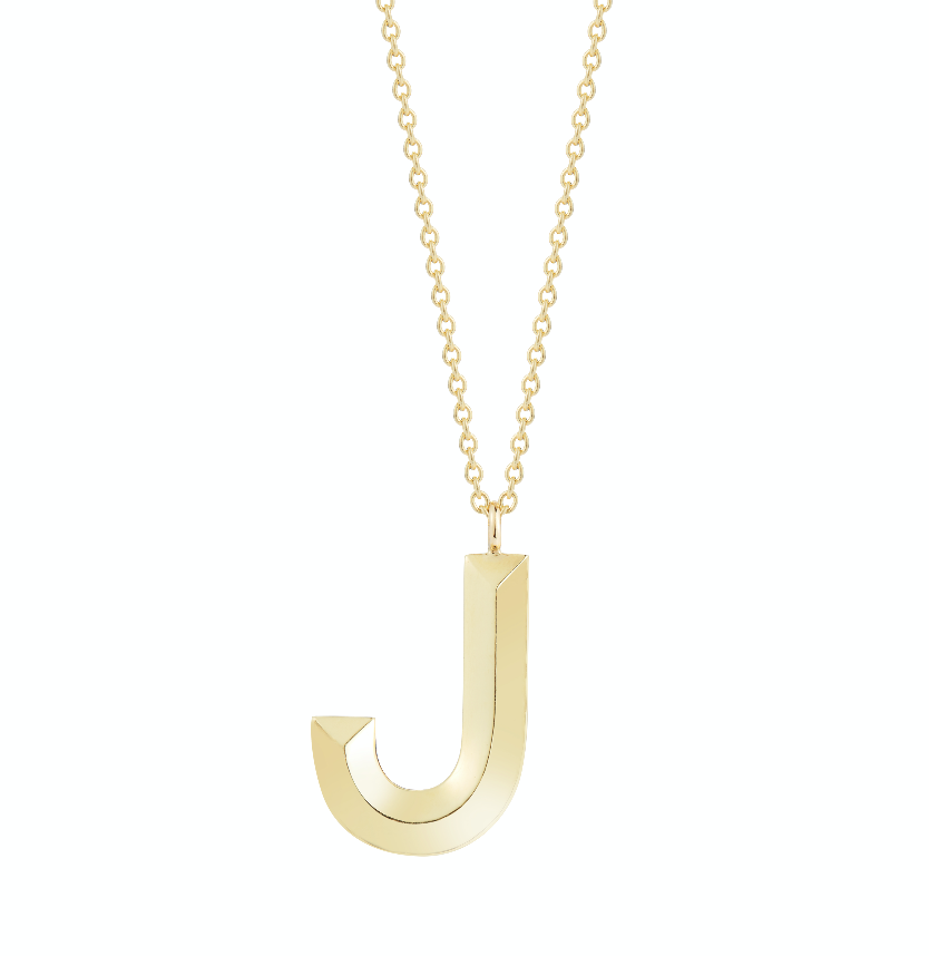 Large Simple Letter Necklace
