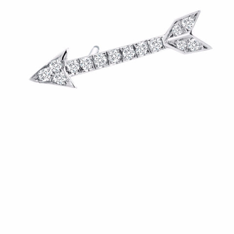 Single Diamond Arrow Stud