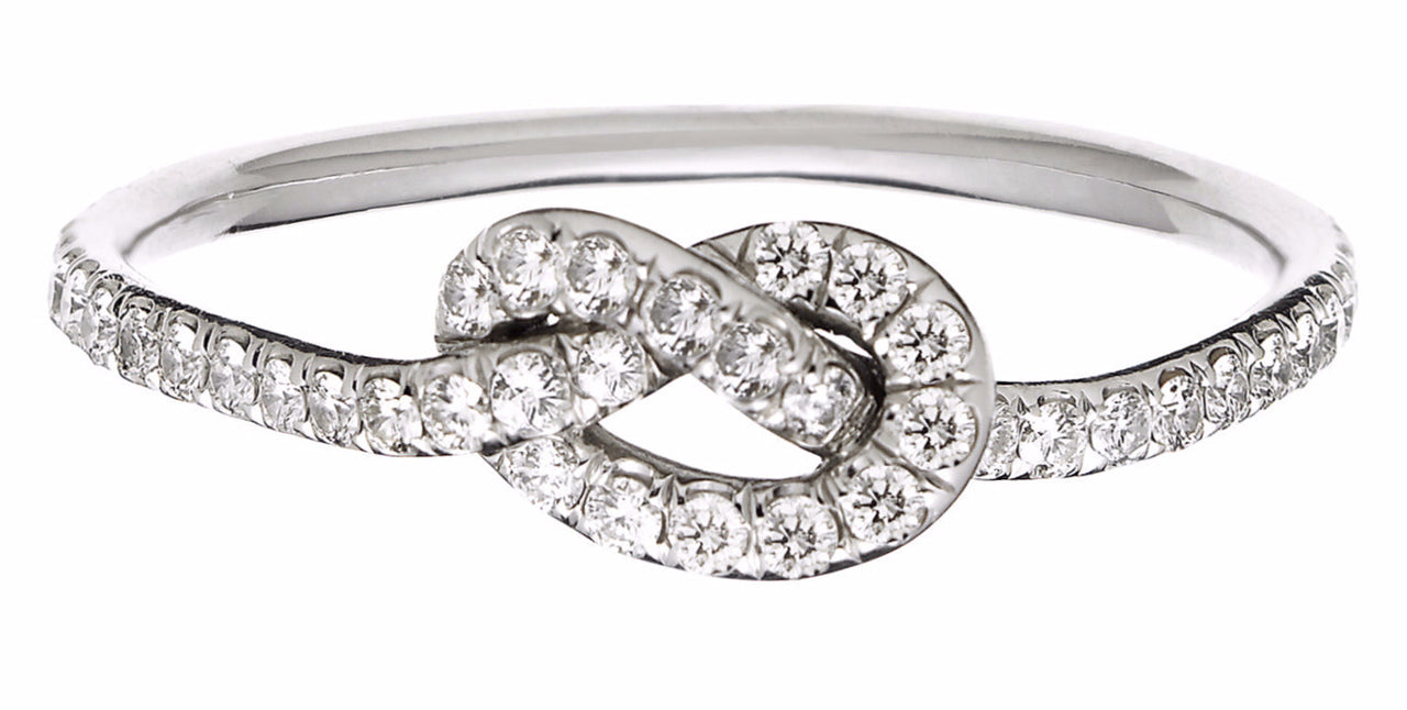 Diamond Love Knot Ring Finn Jewelry