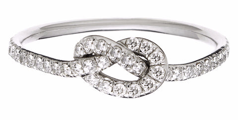 Diamond Love Knot Ring - Finn