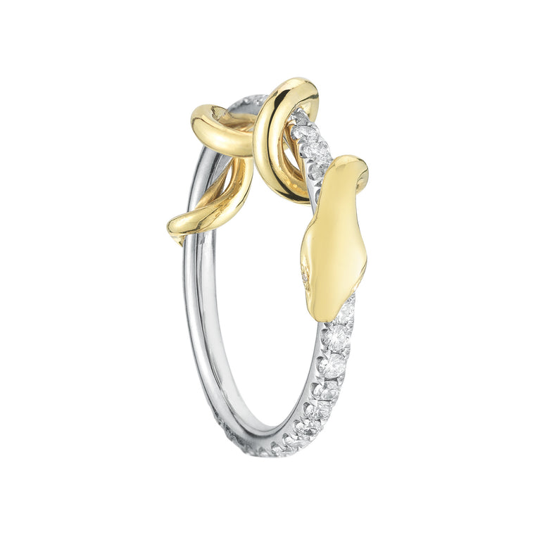 Pave Diamond Snake Ring