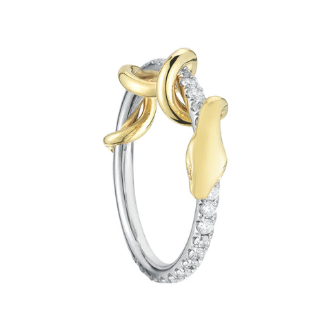 Pave Diamond Snake Ring - Finn