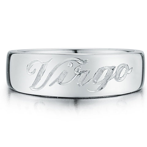 Personalized Zodiac Pinky Ring