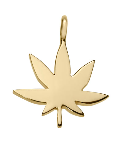 cute marijuana leaf weed symbol in 18k gold on adjustable string cord bracelet by finn by candice pool neistat