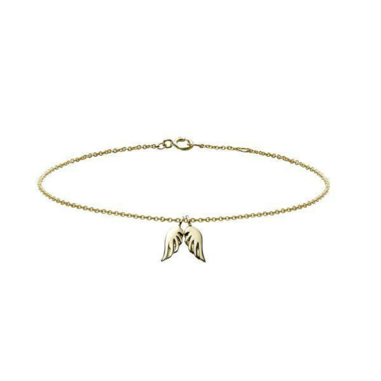 18k gold angel wings charm bracelet by Finn by Candice Pool Neistat