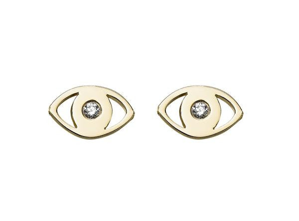 Diamond Evil Eye Studs - Finn