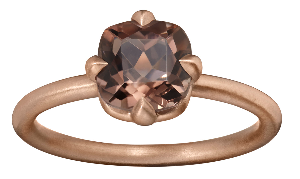 one of a kind medium sized brown chocolate tourmaline stone ring in 18k rose gold by finn by candice pool neistat