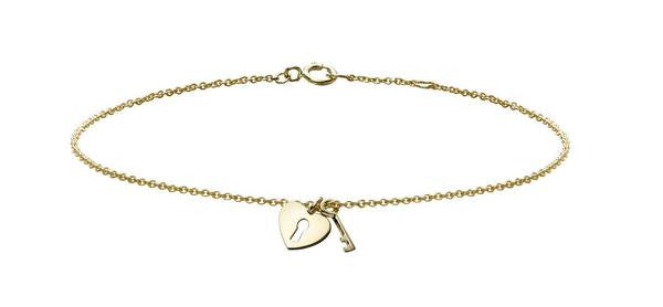Heart and Key Charm Bracelet - Finn