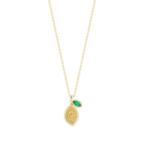 Gemstone Lemon Necklace