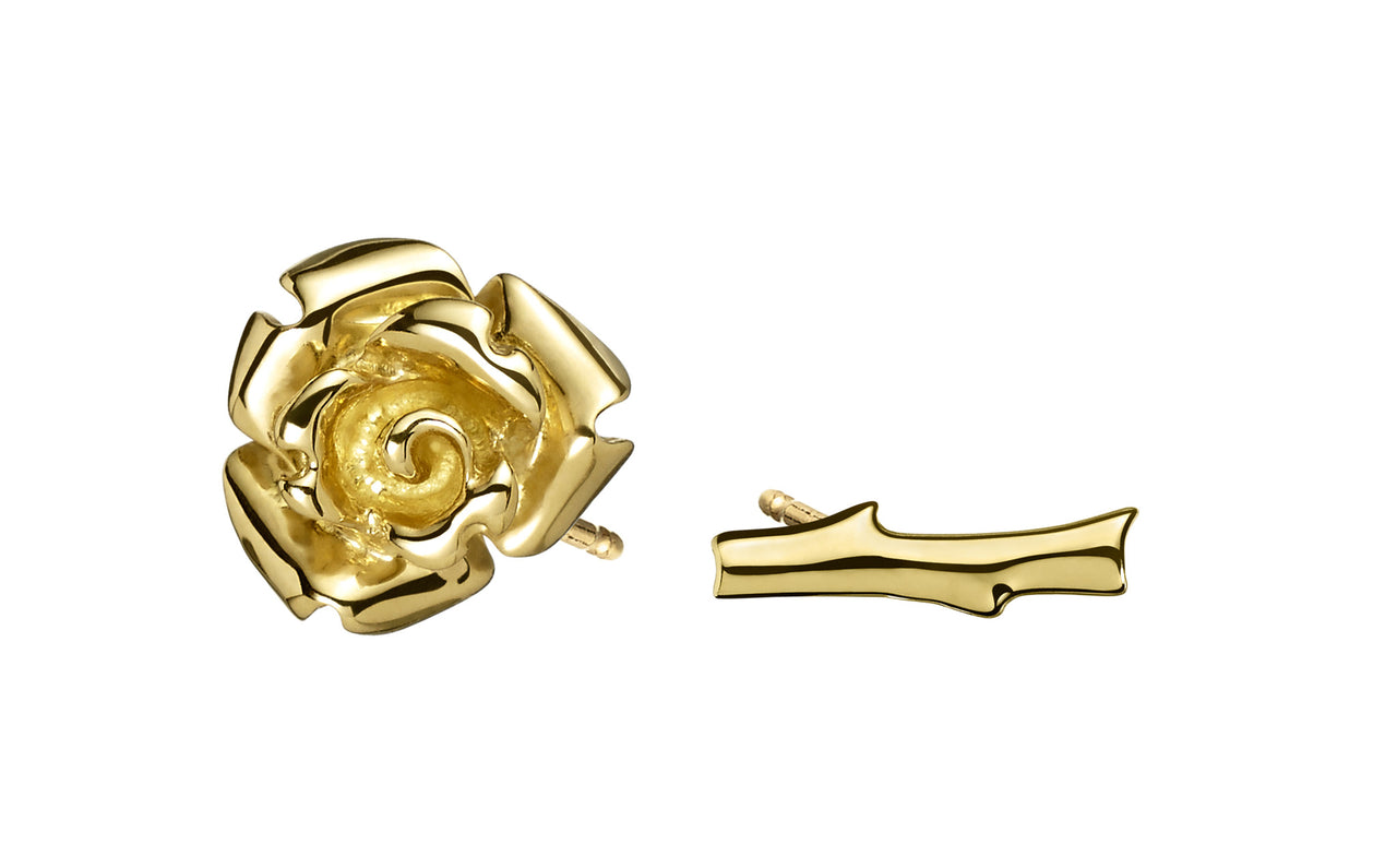 Gold Flower and Stem Studs - Finn