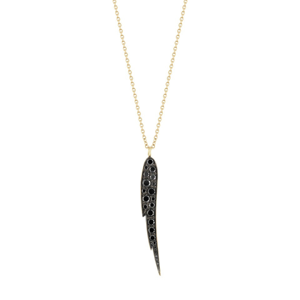 Black Diamond Angel Wing Pendant - Finn